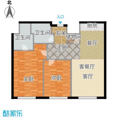 皇朝万鑫国际大厦148.00㎡二室二厅二卫一储户型
