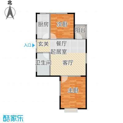 LOHAS上院7号公寓82.35㎡G户型2室1卫1厨
