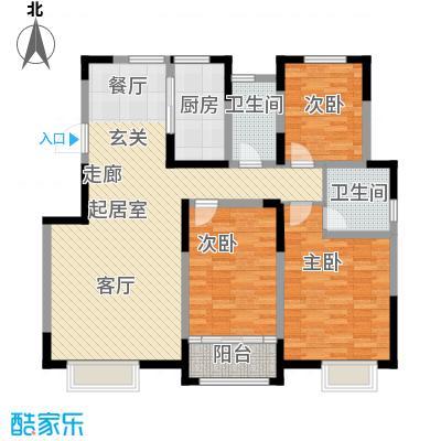 首创炫社区141.00㎡2#、4#、6#楼 F户型3室2厅2卫