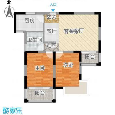 青桦逸景91.41㎡19、20#B户型91.41㎡户型2室2厅1卫