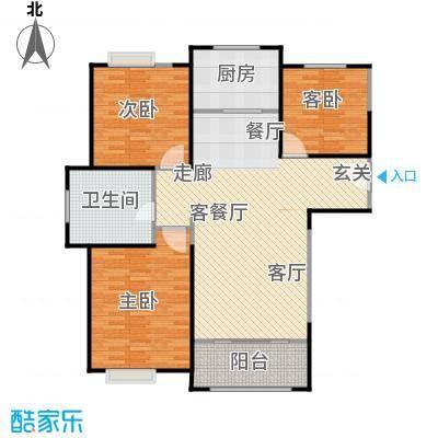正元怡居115.73㎡D户型3室2厅1卫