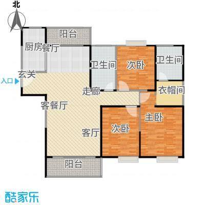 正元怡居148.53㎡B户型3室2厅2卫