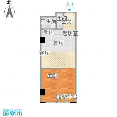 百悦 梧桐中心63.87㎡A2户型