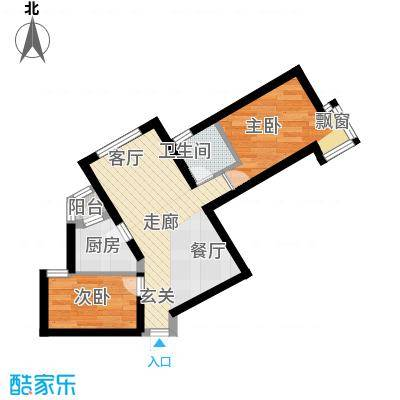宏业广场40.00㎡一室二厅户型