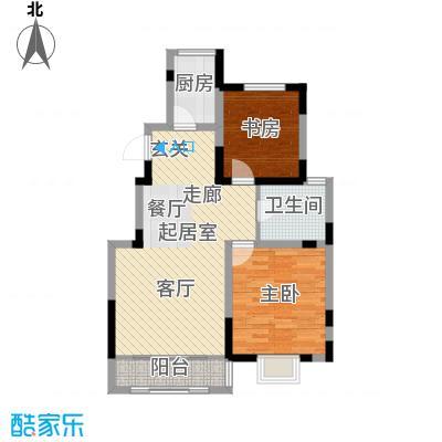 首创炫社区93.00㎡1#、7#、8#楼 E户型2室2厅1卫