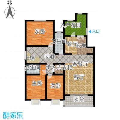 博鑫青年城三期341.00㎡6号楼三室两厅两卫(下层)户型3室2厅2卫