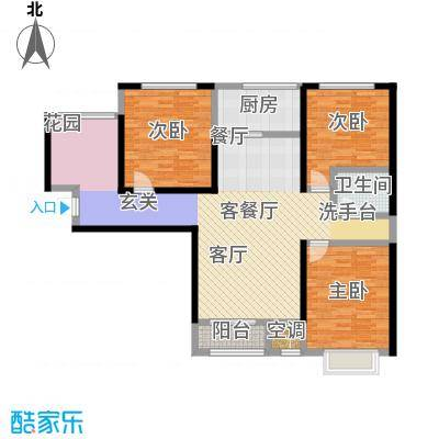三兴御海城123.06㎡G户型3室2厅1卫