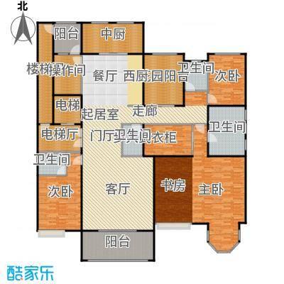 中海紫御公馆278.00㎡瞰海奢宅户型3室2厅4卫