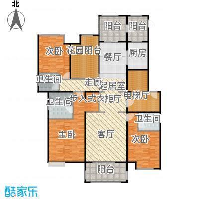 中海紫御公馆191.00㎡亲海华宅户型3室2厅3卫