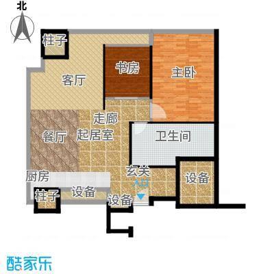 天津环球金融中心127.00㎡C01-C02-二室二厅一卫-127-130平米户型
