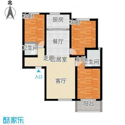 锦江花园户型3室2卫1厨