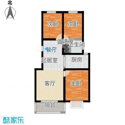 锦江花园户型3室1卫1厨