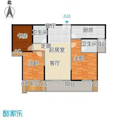 蓝光名仕公馆B1户型 119平米户型3室2厅2卫