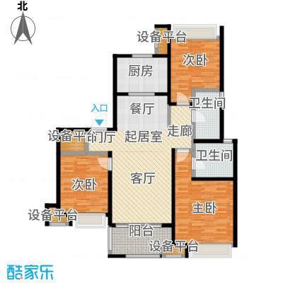 万科玲珑东区115.00㎡D2户型3室2厅2卫户型3室2厅2卫