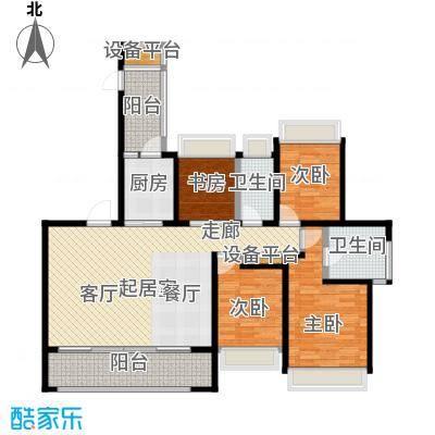 万科玲珑东区115.00㎡E1户型3室2厅1卫户型3室2厅1卫