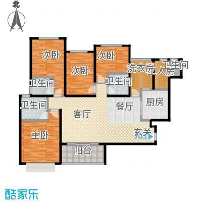 新余恒大雅苑160.00㎡7号楼1单元4号户型4室2厅3卫