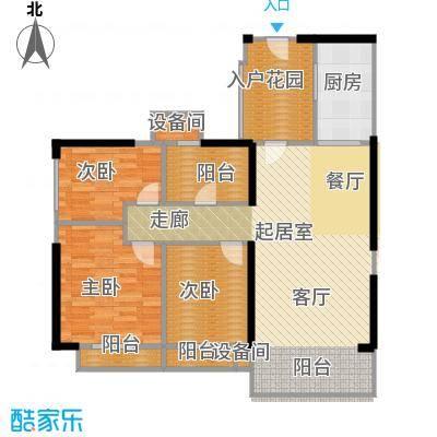 新余恒大城户型3室1厨