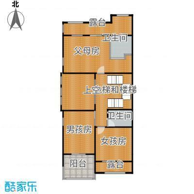 中海紫御公馆415.00㎡二层户型10室