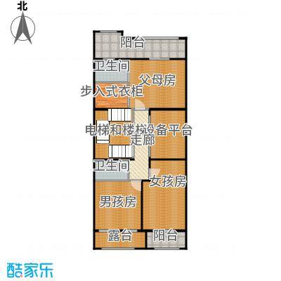中海紫御公馆368.00㎡二层户型10室