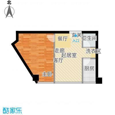 鼎晟金科凯城69.71㎡1室2厅1卫