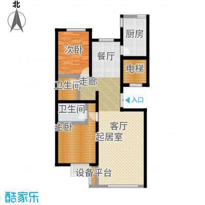 中和文化广场115.00㎡B01住宅户型2室2厅2卫