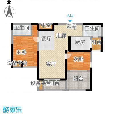 金海名园105.00㎡D户型2室2厅2卫