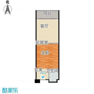 井冈・江山64.18㎡公寓E户型1室1厅1卫