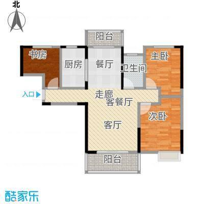武汉锦绣香江96.00㎡C-2户型3室2厅1卫