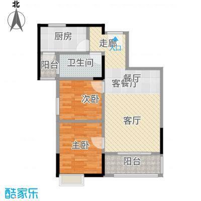 武汉锦绣香江78.00㎡A-3户型2室2厅1卫