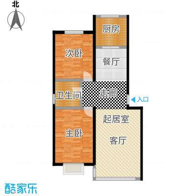 睿瀛佳苑99.90㎡2号楼标准户型2室2厅1卫