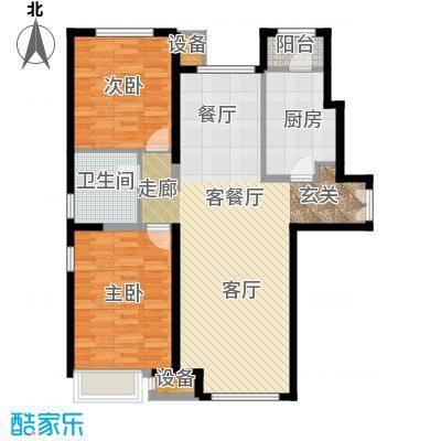 泰达城河与海户型2室1厅1卫1厨