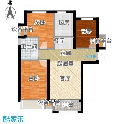 天津诺德中心88.00㎡C户型3室2厅1卫