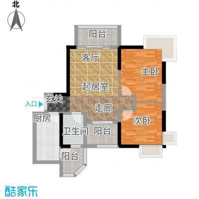 碧桂园公园1号85.00㎡8街3号 206户型2室1厅1卫