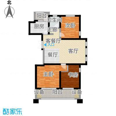 优山美地100.00㎡一期1号楼标准层a1户型3室2厅2卫
