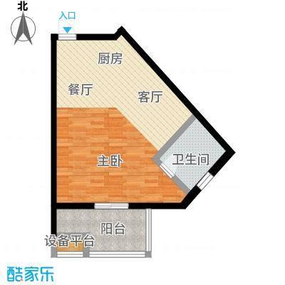 蓝海国际公寓51.78㎡蓝海国际公寓F户型:51.78平米户型1室1厅1卫