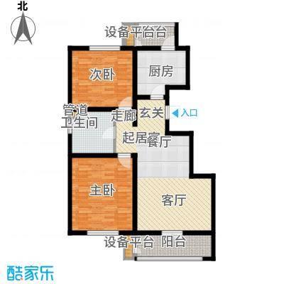 虹溪公寓96.00㎡高层A户型