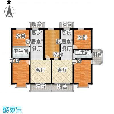 山水文园68.25㎡两室两厅一卫68.25㎡户型图户型2室2厅1卫
