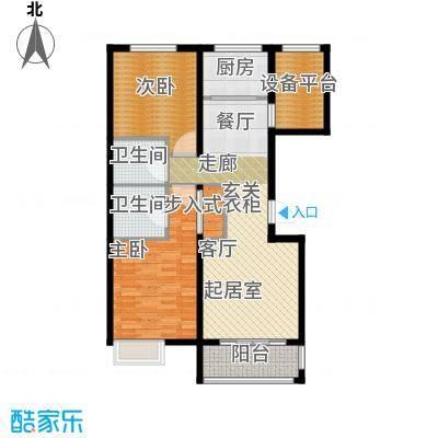 滨江国际98.77㎡B户型2室2厅2卫