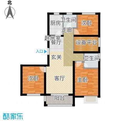 滨江国际115.39㎡C户型3室2厅2卫