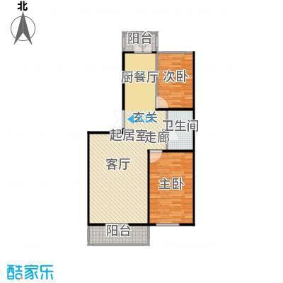 和苑使用面积80.86平米户型2室2厅1卫