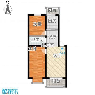 山水文园68.25㎡山水文园两室两厅一卫68.25㎡户型图户型2室2厅1卫