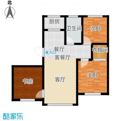 金鼎凤凰城103.26㎡A2户型3室2厅1卫1厨 103.26㎡户型3室2厅1卫