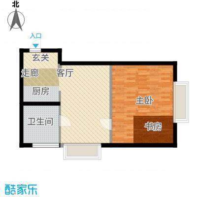 长庚老年公寓二期万华61.63㎡kt-a户型1室1厅1卫