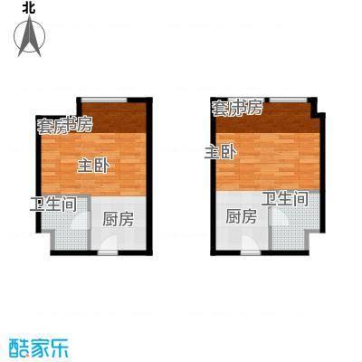 世贸天街E12-E14户型1室1卫
