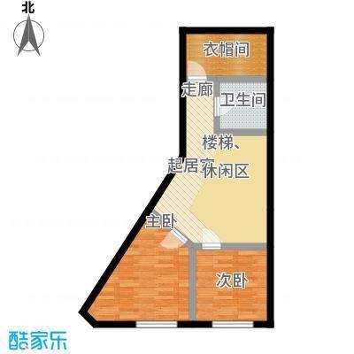 汇雄时代loft户型 LB-01二层户型