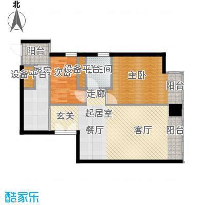 天津富力中心90.85㎡中区10户型2室2厅1卫