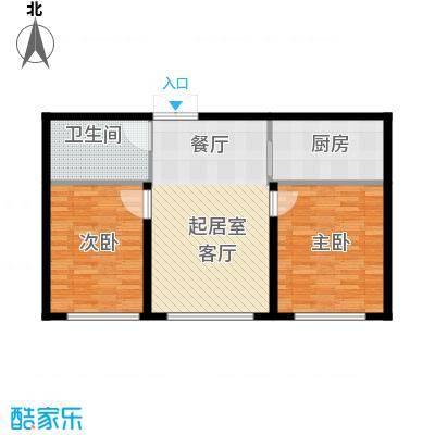 保利水韵长滩79.00㎡2号楼3号楼使用面积46平米电商加推户型2室2厅1卫