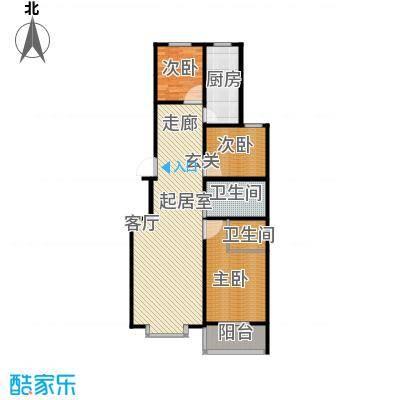 浩正�林湾119.98㎡三室两厅两卫户型3室2厅2卫