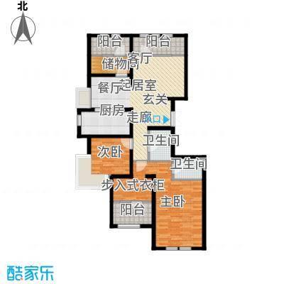 金辉天鹅湾134.00㎡R户型 四室两厅两卫户型4室2厅2卫