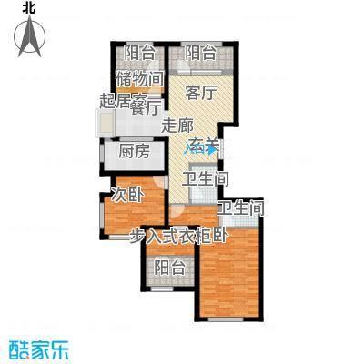 金辉天鹅湾127.00㎡N户型 四室两厅两卫户型4室2厅2卫